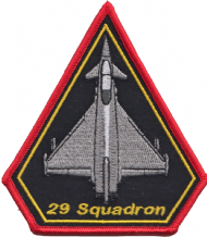 No. 29 (F) Squadron Royal Air Force RAF Eurofighter Typhoon Spearhead Embroidered Patch